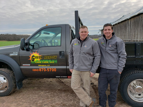 Nate Bahler and Brian Gerber of Green Meadow Lawn Care in Ellington, CT