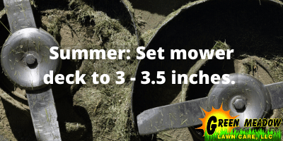 How high to set lawn mower deck
